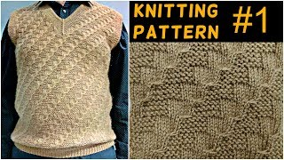 Knitting pattern and full measurements for gents half sweater