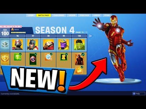 *NEW* SEASON 4 BATTLE PASS SUPER HEROES! Fortnite: Battle Royale!