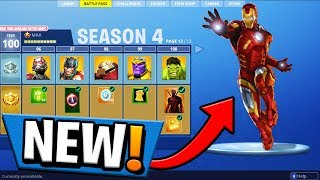 *NEW* SEASON 4 BATTLE PASS SUPER HEROES! Fortnite: Battle Royale!