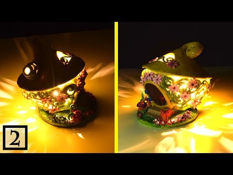 DIY Fairy Garden House Lampshade | Clay Coil Pot Fairy House Lantern | Paper Clay Tutorial