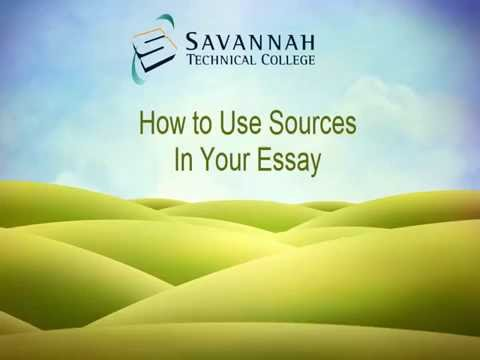 APA & MLA Research Papers: How to Use Sources in Your Essay
