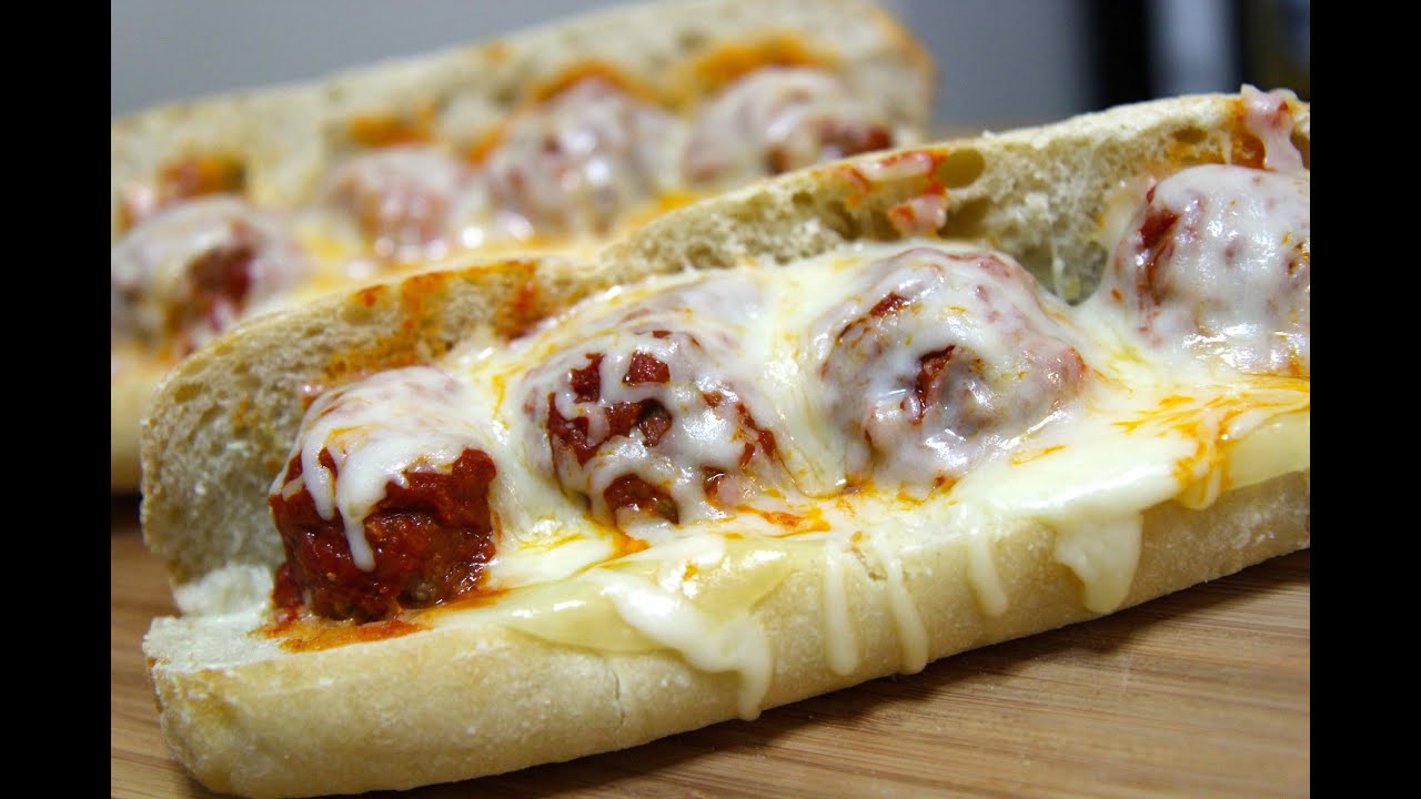Image result for Meatball Parmesan Sub