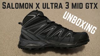 NEW BOOTS! Unboxing Salomon X Ultra 3 Mid GTX Hiking Boots