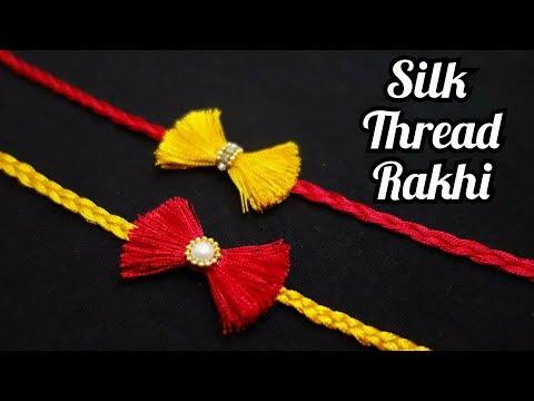 How to make Rakhi at home | Silk Thread Rakhi | Handmade Rakhi | Rakhi Designs | DIY Rakhi