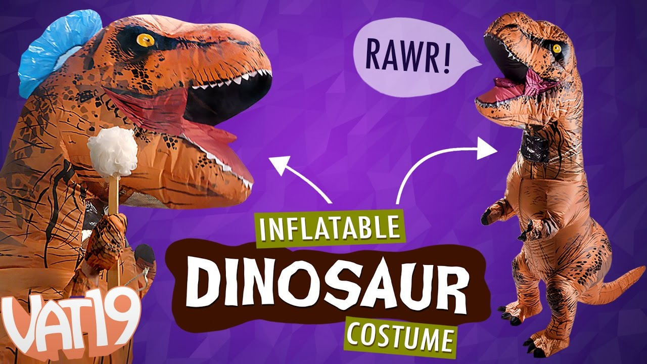 Inflatable dinosaur costume youtube inflatable dinosaur costume solutioingenieria Choice Image