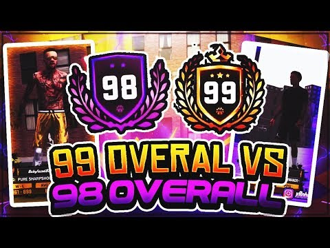 FIRST 99 OVERALL VS 98 OVERALL PURE SHARP! INTENSE HIGH REP SHOWDOWN IN SUNSET! NBA 2K18 PLAYGROUND!