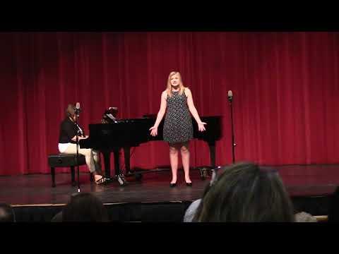 Sam singing at Pinkerton's Senior Recital