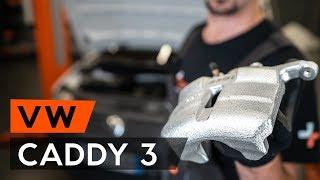 Kuinka vaihtaa etujarrusatula VW CADDY 3 (2KB) -merkkiseen autoon [OHJEVIDEO AUTODOC]