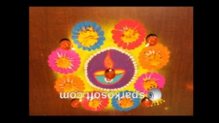 LIVE RANGOLI/KOLAM for Diwali Festival