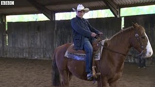 Learning to ride like a real cowboy