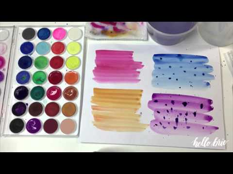 Create Simple Watercolor Wash Backgrounds