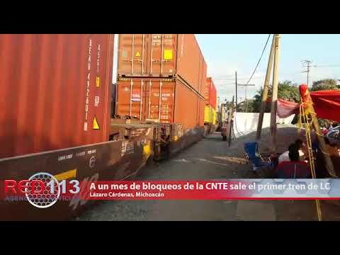 VIDEO A un mes de bloqueos de la CNTE sale el primer tren de LC con 200 contenedores