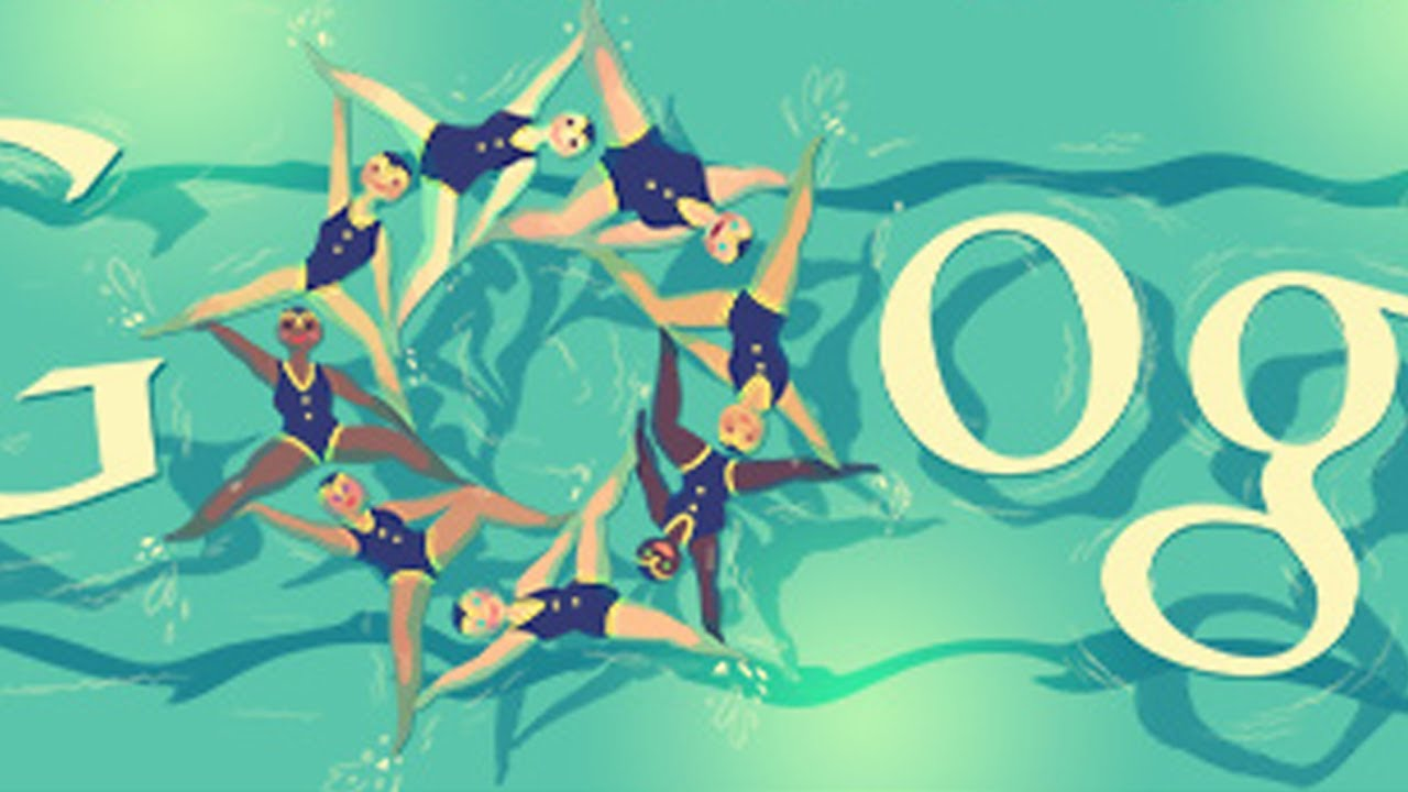 London 2012 Synchronised Swimming Olympic Doodle Youtube