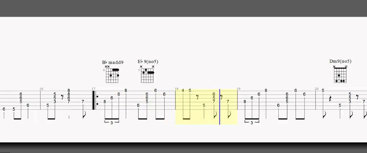 Guitar Tab - Jazz - Night in Tunisia - Chord Melody - A and B Part ...