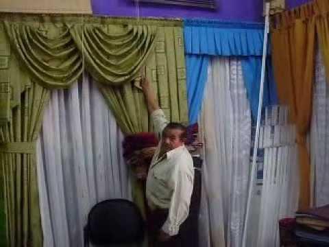 Alfombras cortinas youtube for Como colgar cortinas con ganchos