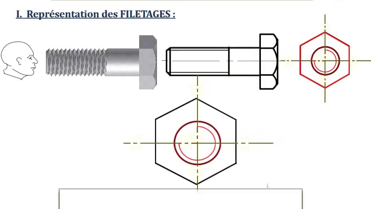 Les filetages taraudages cours anim pptx youtube - Exercice dessin industriel coupe et section ...