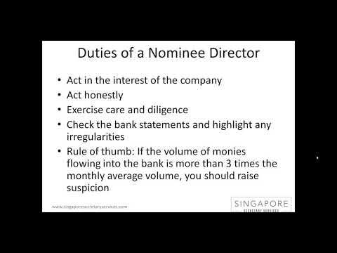 Hiring a Nominee Director in Singapore