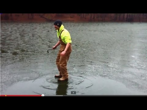 Guy Walks On Water, And Falls Through The Ice. Almost Dies