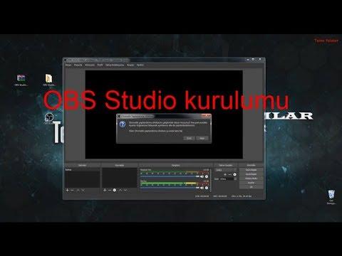 OBS Studio 21.0.1 Kurulumu ve İndirme linki(Canlı yayın yapma programı)