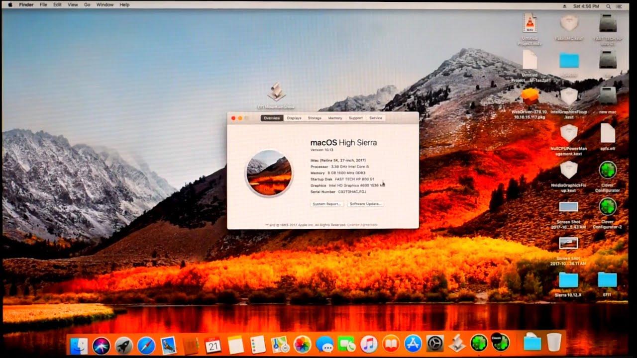 Mac OS High Sierra fix Intel Hd 4600/4400/4200 Intel Hd 5000/5100/5200