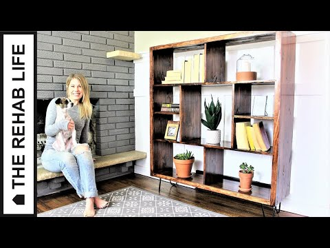 The Mid-Century Modern Bookcase - Easy DIY Project