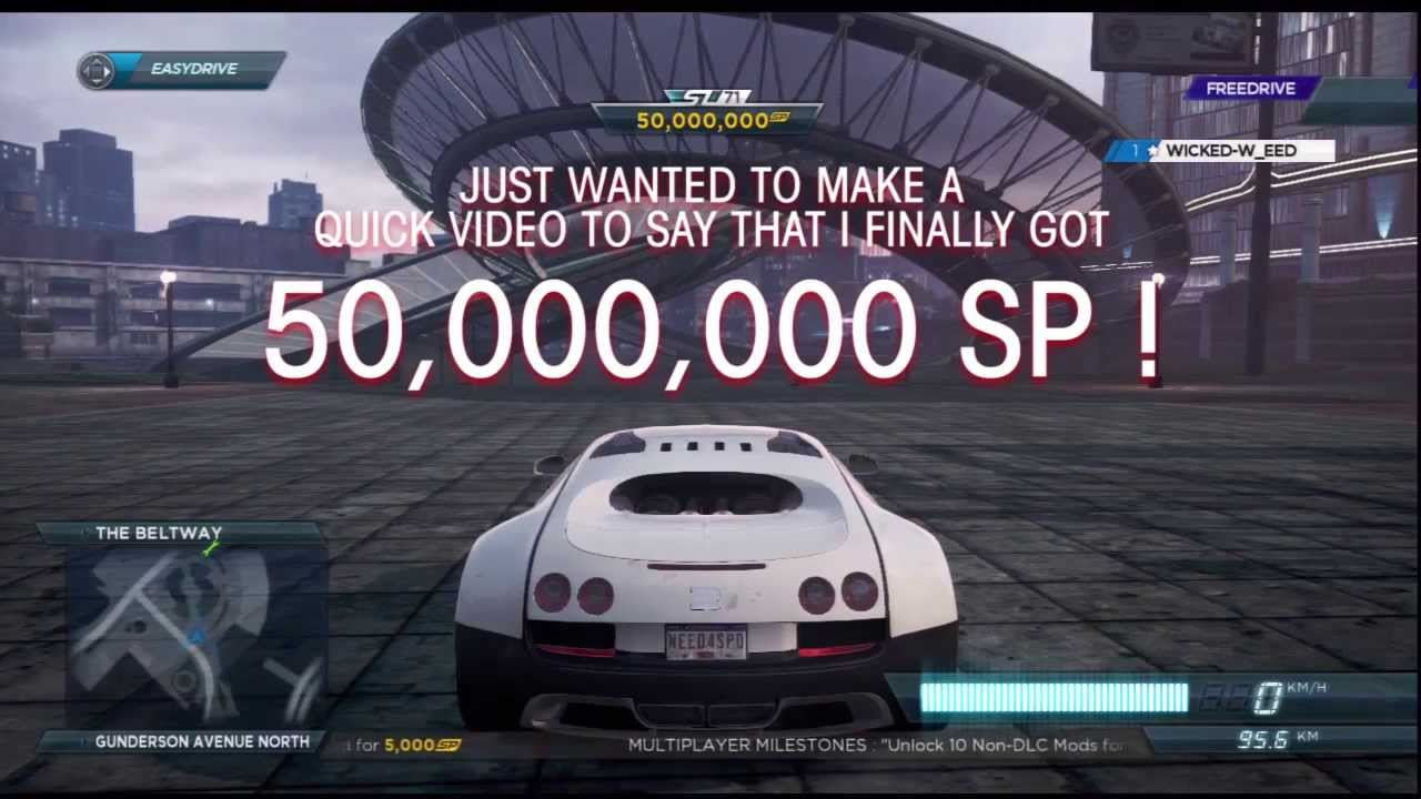 Need For Speed Most Wanted 2012 50 000 000 Sp Glitch Youtube