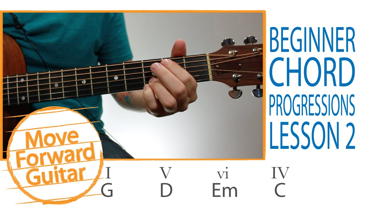 Guitar For Beginners 5 Popular Chord Progressions Lesson 2 Youtube