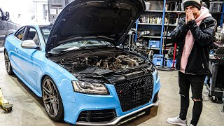 A common problem with the audi s5 4.2 v8 is that it gets carbon build up on valves and inlet causing power loss lumpy idling. i took my to da...