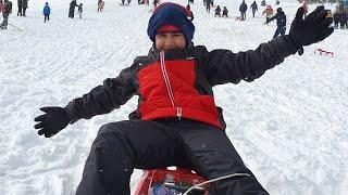 Buğra Kayak Merkezinde Kızakla Kaydı Çok Eğlendi