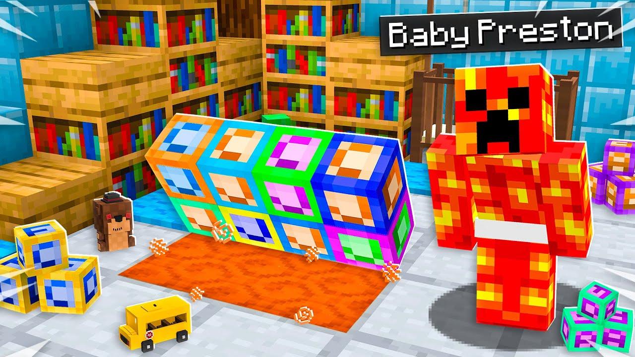 I Found Baby Preston U0026 39 S Secret Minecraft Portal