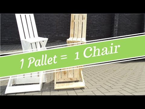 How to build your DIY outdoor pallet chair using only 1 pallet // Modern design