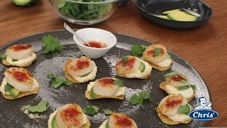 Seared Scallops With Avocado & Corn Relish Dip