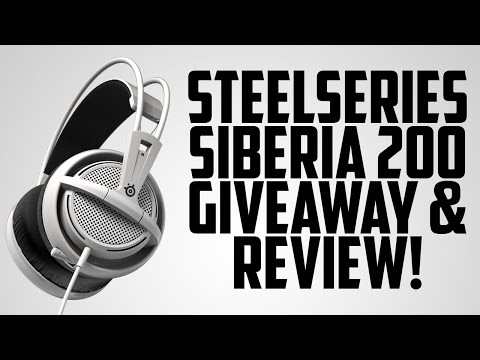 GIVEAWAY AND REVIEW - Steelseries Siberia 200 Gaming Headset!