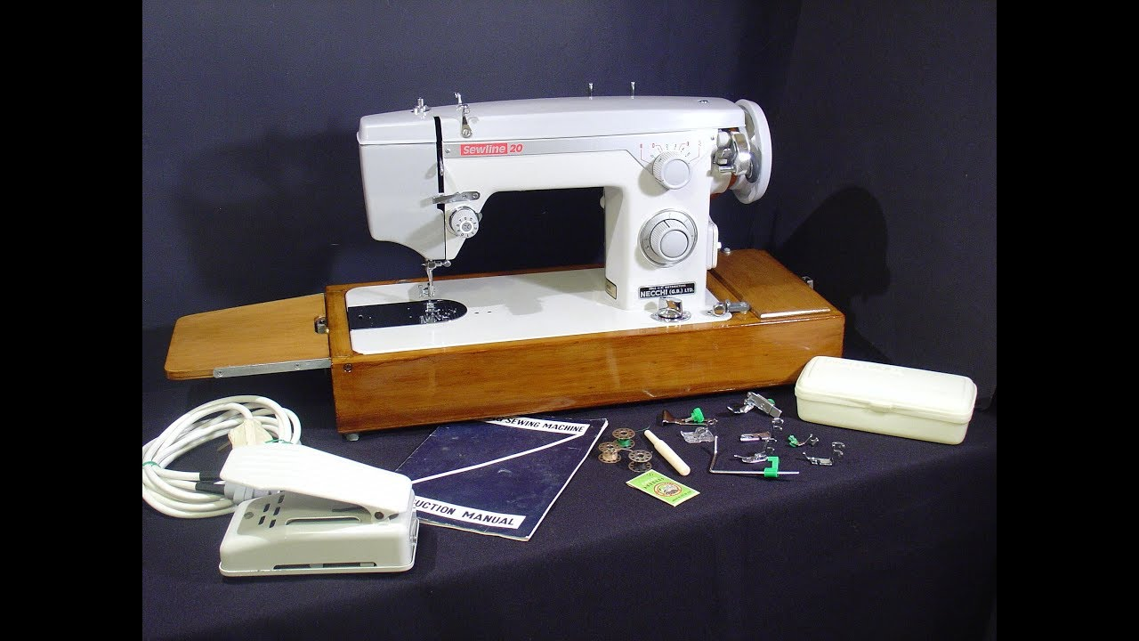 necchi sewline 20 sewing machine youtube rh youtube com