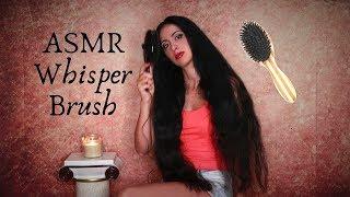 ASMR Whispering and Very Long Hair Brushing ENG