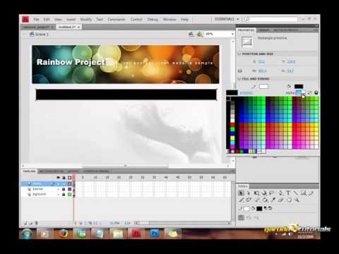 Tutorial Flash Belajar Desain Web #1 Layout