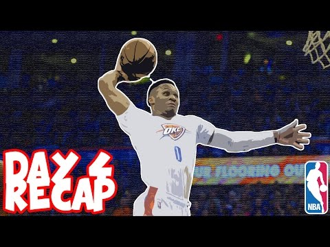 RUSSELL WESTBROOK Puts Up MONSTER Triple Double | 2016-2017 NBA Season Day 4 Recap