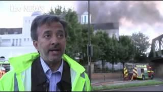 iTV News: Europe's largest Ahmadiyya Bait-ul-Futuh Mosque on Fire