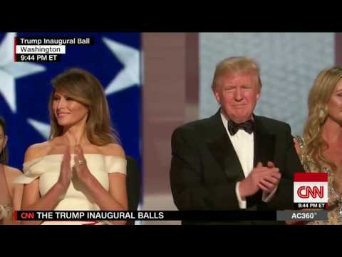 Donald Trump and his friends dancing to Slovenian (Melania