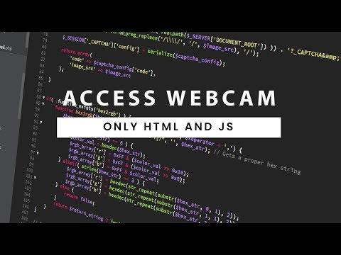 Accessing Webcam And Capturing Image From Webcam | Only HTML And JAVASCRIPT