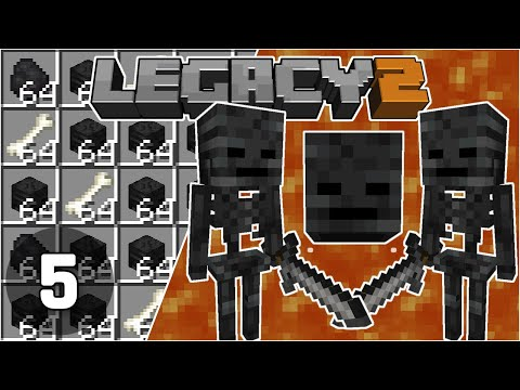 Wither Skull Farm without Roses - Legacy SMP 2: #5 | Minecraft 1.16 Survival Multiplayer