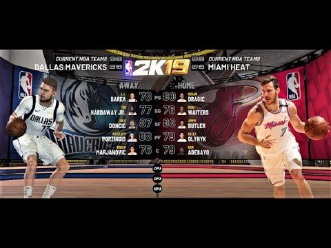 Using NBA2K20 to predict the Miami Heat vs Dallas Mavericks