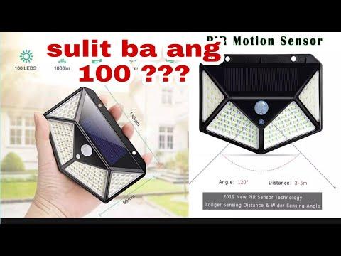 WATCH  bago bumili ng 100 LED Solar lights, outdoor wireless light, security solar motion sensor