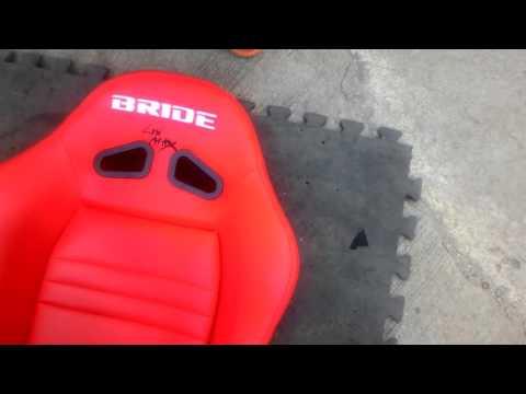 BRIDE racing seat เบาะแต่ง เบาะซิ่ง รางตรงรุ่น 2/2