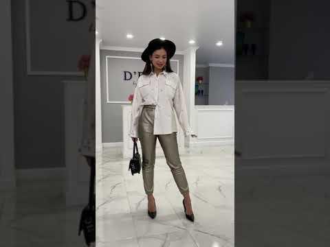Женские кожаные брюки - Рубашка женская
