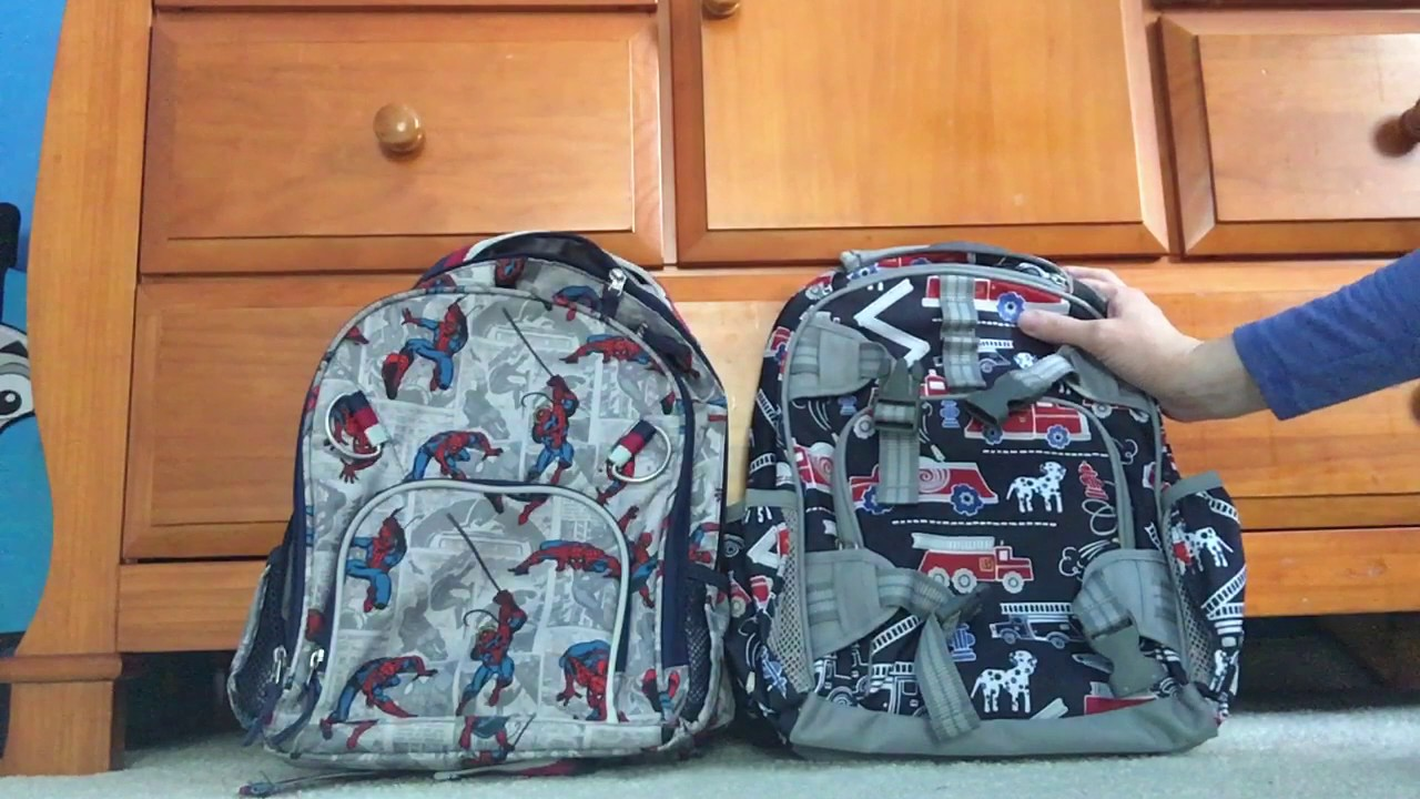 8f347587db A comparison of Pottery Barn Kids small backpacks - YouTube