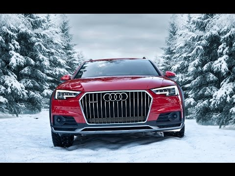 2017 Audi A4 Allroad 2.0TDI quattro in snowy forests in Tatra Mountains