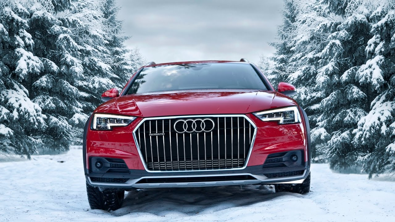 2017 Audi A4 Allroad 2 0tdi Quattro In Snowy Forests In