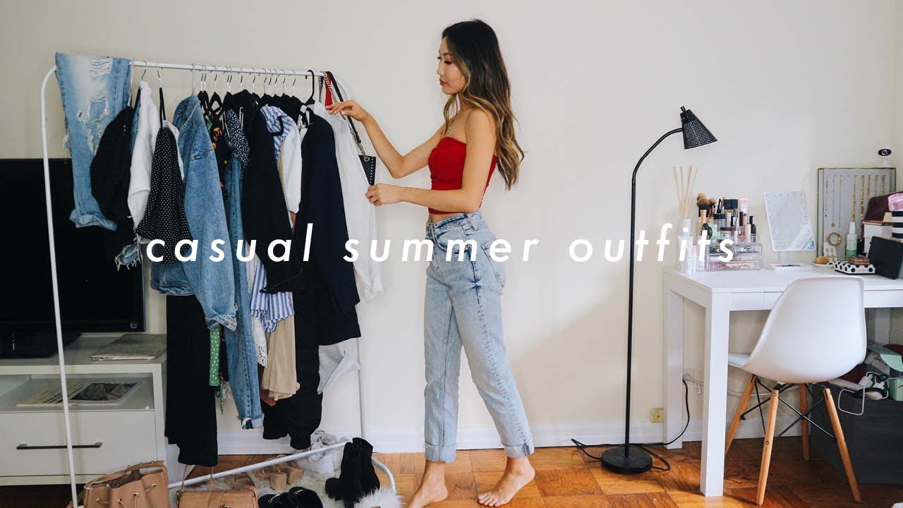 CASUAL SUMMER OUTFITS ? | summer fashion lookbook 2019 1