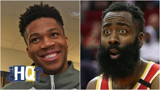 Reacting to Giannis saying James Harden is the hardest NBA player to guard | Highly Questionable